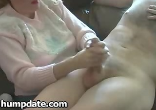 cfnm milf gives cook jerking with happy end